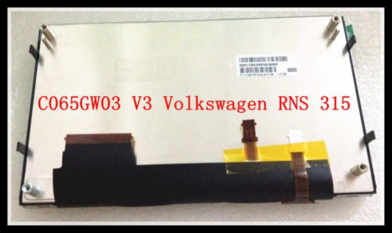 New Original Car Navigation DVD/CD LCD Display C065GW03 V3 LCD Modules For Volkswagen RNS 315