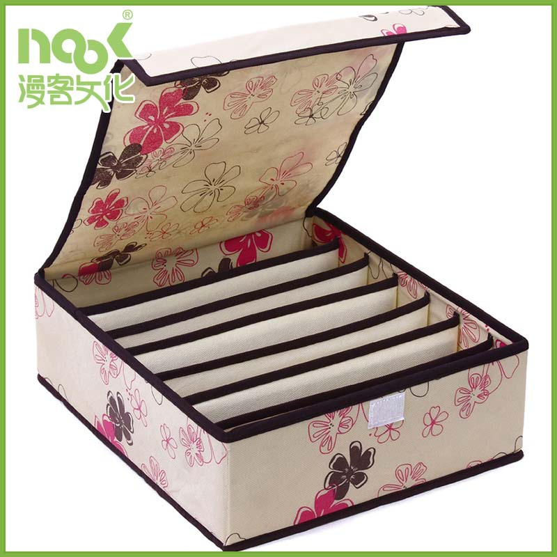 Fashion design New products foldable fancy underwear non woven storage box