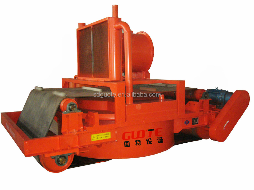 Oil cooling cross belt overband electro permanent magnetic separator for conveyor belts 60MT 90MT