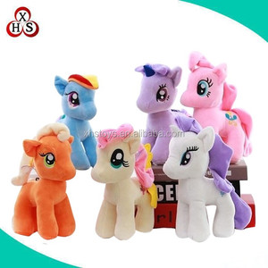 soft cute wholesale stuffed happy horse plush toys in china