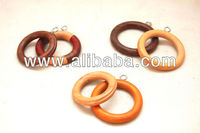 Wooden Curtain Rings