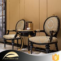 DS7528- antique hand carved chair furniture and fabric leisure chair