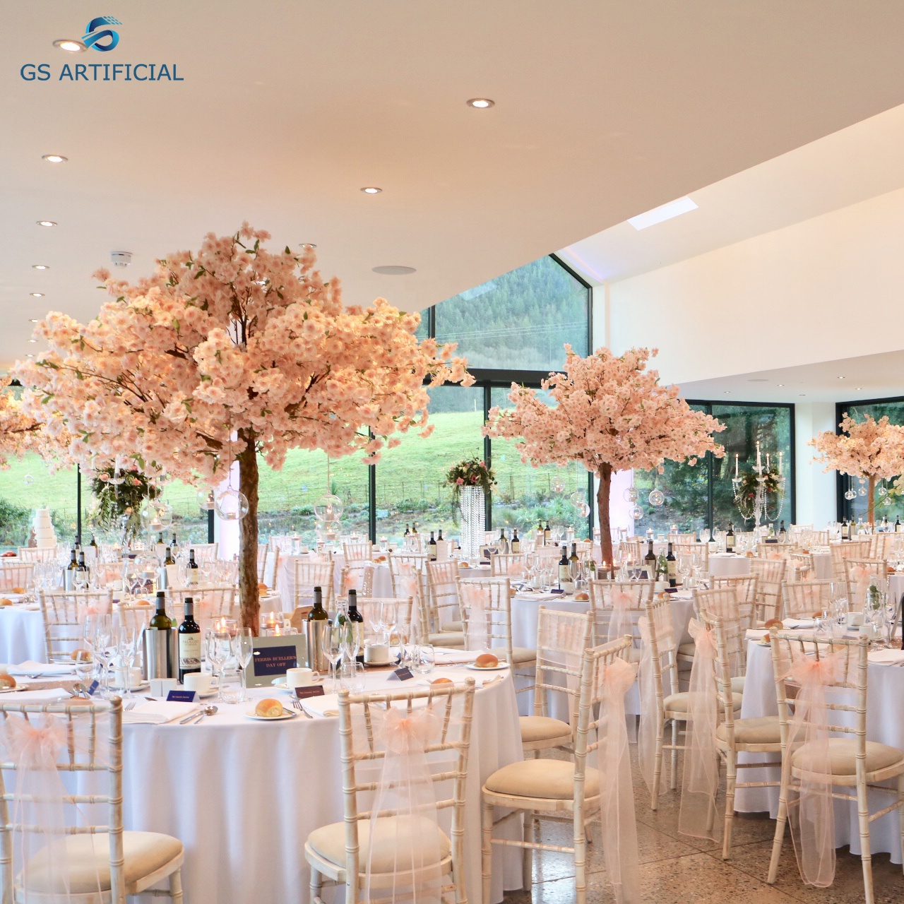 trees for indoor wedding decoration plastic Cherry Blossom tree centerpieces for wedding table