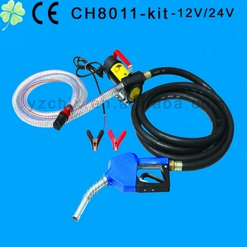 CH8011-12V Mini Oil pump with deliver hose and auto nozzel /electric oil pump kit 12V/24V