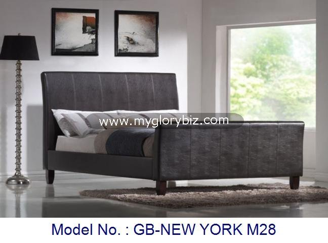 PU Bed, PU Leather Bed, Bedroom Furniture Bed, Uphosterly Furniture