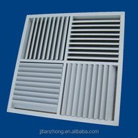 aluminum four way square air diffuser grille with curved blades