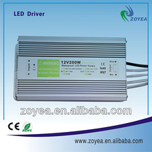2014 new designed CE ROHS approved 200w waterproof led driver led power supply