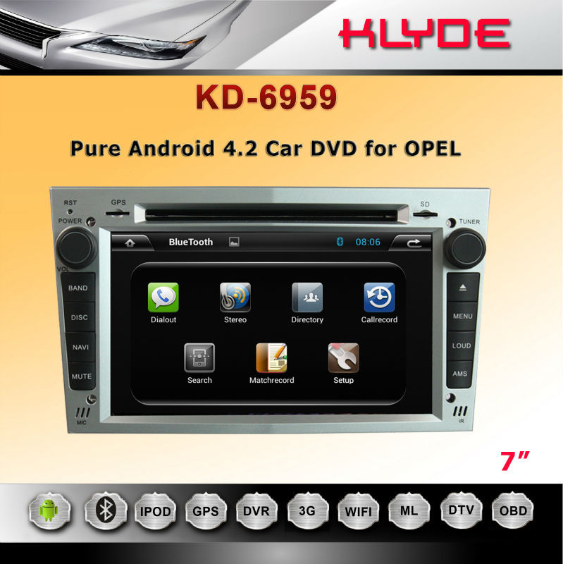 "Built-In GPS WIFI Opel Meriva Dvd Navigation 2 Din 9"" Car Dvd Player"