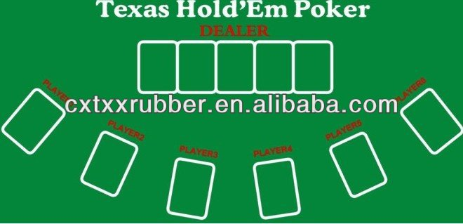 New & Sealed! Gorgeous Poker Table Top Green Mat Pad Blackjack 21 & Texas HoldEm