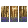 3 Panels HD Printed Forest Secenery Big Tree Wall Picture Painting for Living Room/SJMT1926