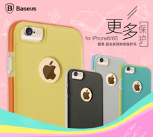 Baseus Case For iPhone 6S Plus,Baseus Jump Series TPU+PC+TPE Back Case Cover For iPhone 6 Plus For iPhone 6S Plus 5.5'' PB-052-1