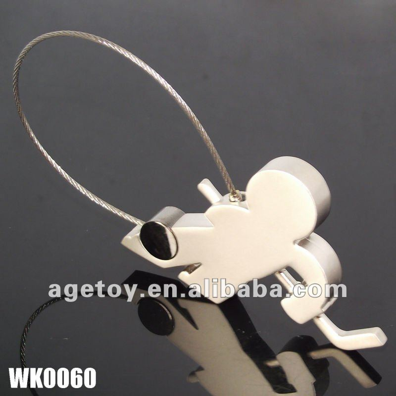 3D Metal Hockey Keychain