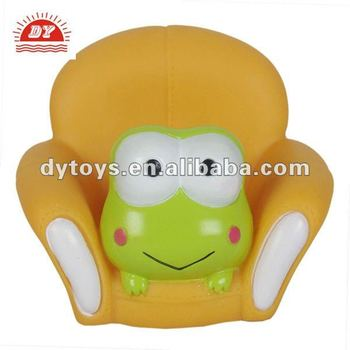 Novelty frog phone holder made of pvc material