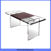 Best price competitive hexagon acrylic table