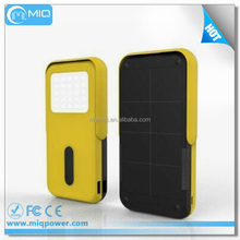 Factory price hot sale solar mobile power bank with LED light