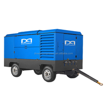 Mobile air compressor with refrigerated compressed air dryer