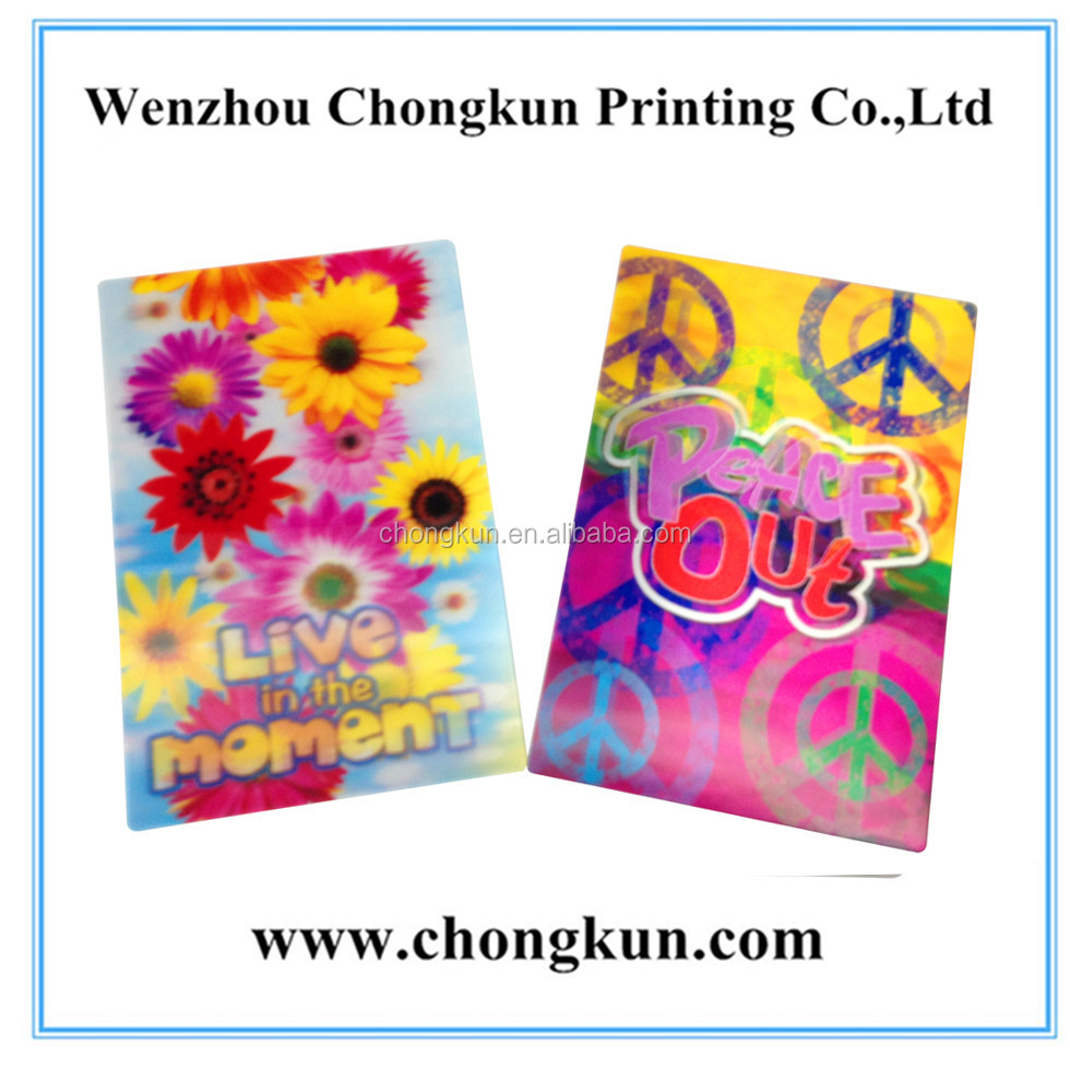 Wholesale Promotional gift souvenir item 3d postcard