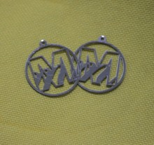 Stainless steel slice laser cut raw pendant