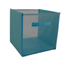 Folding mesh storage laundry basket for clothes or toys