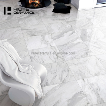 Simple style carrara white marble floor tile for bathroom and living room tile