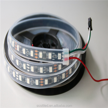 DC12V 60leds/m 20pcs ws2811 ic/meter(20pixels) addressable led digital strip waterproof IP67 in silicon tube