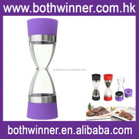 Commercial hourglass salt and pepper mill ,H0T994 automatic stainless steel salt and pepper mills , manual pepper mil