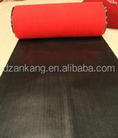 red pinstripe pvc backing carpet in roll pvc floor carpet