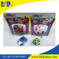 4 styles assorted police free wheel metal cartoon car toy
