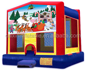 inflatable christmas bouncer with slide, inflatable bouncer