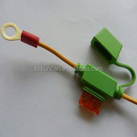 Saudi Arabia 18AWG cable 2 ring terminals with 2 clips solar cable battery cable type