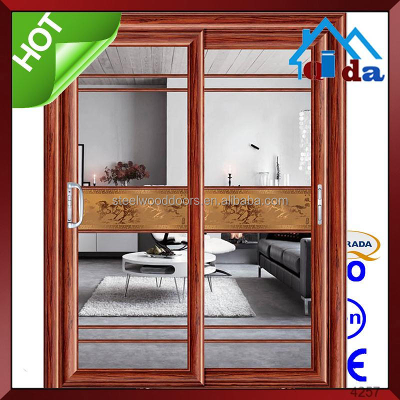 beautiful aluminium used commercial double glass entry door