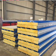 ASTM best seller good stiffness Cladding Insulation Glasswool sandwich panel for prefabricated warehouse export to Vietnam