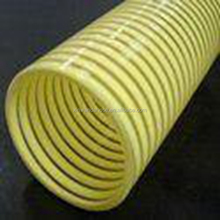 Spiral Helix Corrugated Clear PVC Suction Hose Reinforced PVC Vacuum Delivery Hose For Water