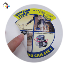 Custom order accept full color waterproof adhesive vinyl label