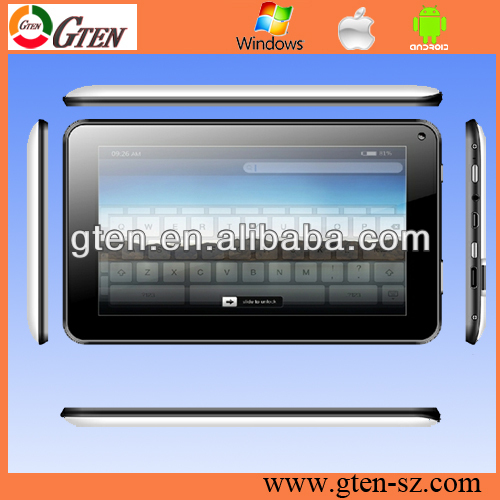 Cheap 7 inch Allwinner A13 dual camera 512MB 4GB flash GPS Bluetooth google android tablet pc