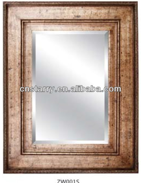 wall antique wood mirror , mirror mosaic wall ,mirror chains decoration