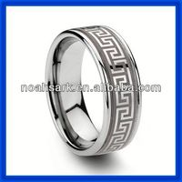 Noahs Ark new celtic tungsten carbide wedding bands ring with laser TPCR142
