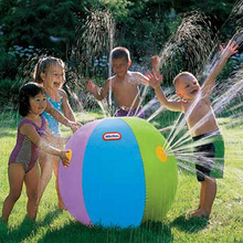 New arrival inflatable spray water ball funny swimming pool kid toy