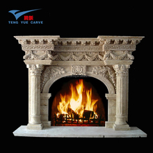 Manufacture hand carved marble fireplace,
