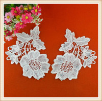 Wholesale Neck/shoulder trim/applique Designs for dress, cotton collar/applique for Ladies Suit, Neckline Trim for Dress