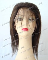10inch 2# light yaki Indian virgin lace front wig