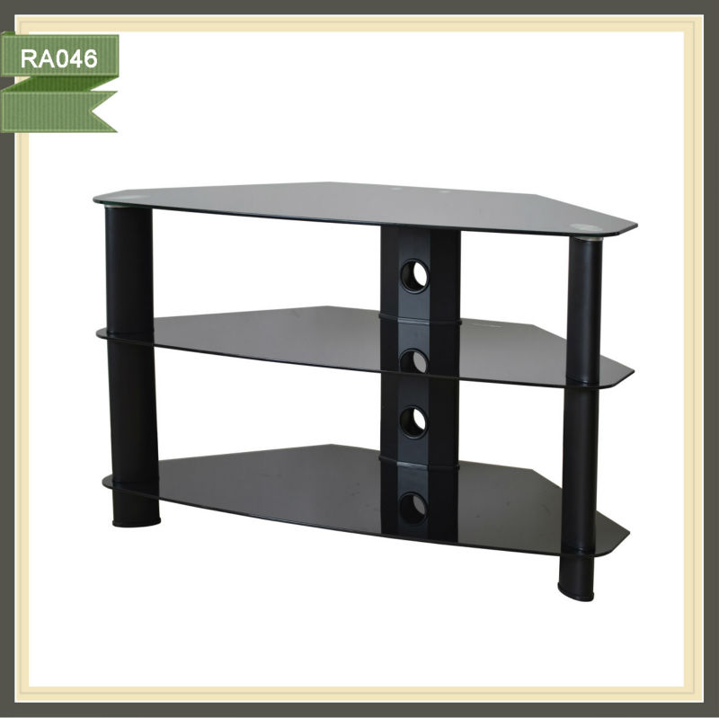 brass tray table wood led tv stand used plasma tv RA046