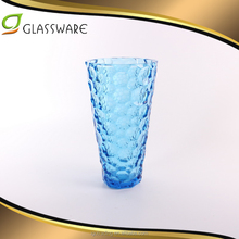 Party home garden European style home decor receptacle room TV furnishing glass blue vase