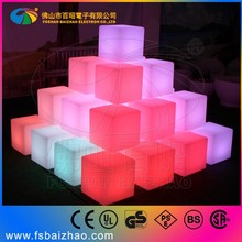 60*60*60cm Guangdong wholesale event rental wood acrylic led illumination Victoria chairs