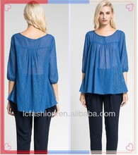 2013 fashion blouse plus size ladies women new design blouse baju made in china