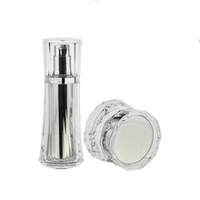 High quality empty bottle cosmetic,acrylic bottle double wall bottle
