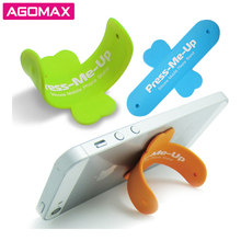 FREE SAMPLES Custom logo 3M sticky one touch u silicone mobile phone stand