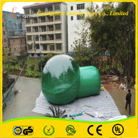 The colorful inflatable bubble tent with PVC and PVC tarpaulin, inflatable bubble camping tent, clear bubble tent