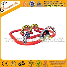 hot sale inflatbale go kart track with 13.5L x 13.5W x 3.3mH A6032