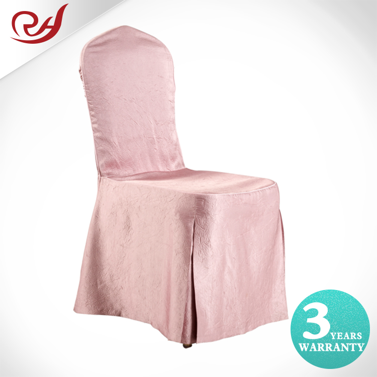 Dream Pink Elegant Bowknot Spandex Polyester High Quality Pink Table Linens And Chair Covers For Wedding With Ruffles